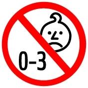 Waarschuwing: ivm kleine onderdelen niet geschikt voor kinderen onder de 3 jaar.